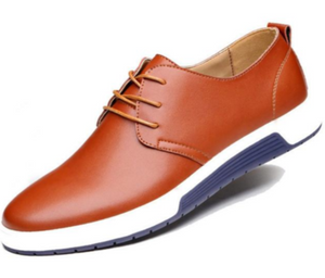 Mens Casual Daily Lace up Leather Shoes - The Updated Ones