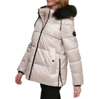 DKNY Women's Plus Size Walker Puffer, Champange, 3X - The Updated Ones