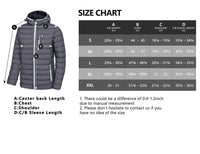 Little Donkey Andy Men's Packable Lightweight Puffer Jacket Hooded Windproof Winter Coat with Recycled Insulation Grey S - The Updated Ones