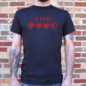 8-Bit Life Hearts T-Shirt | Short Sleeve Graphic Tee - The Updated Ones