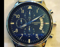 Men's Watch - Genesis 1858 Watch with Blue Dial - The Updated Ones