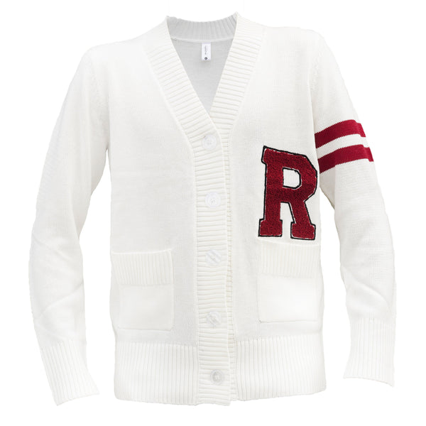 "Hip Hop 50's Shop - Mens 1950s"" R Letterman Cardigan Sweater (Large, R) - The Updated Ones"