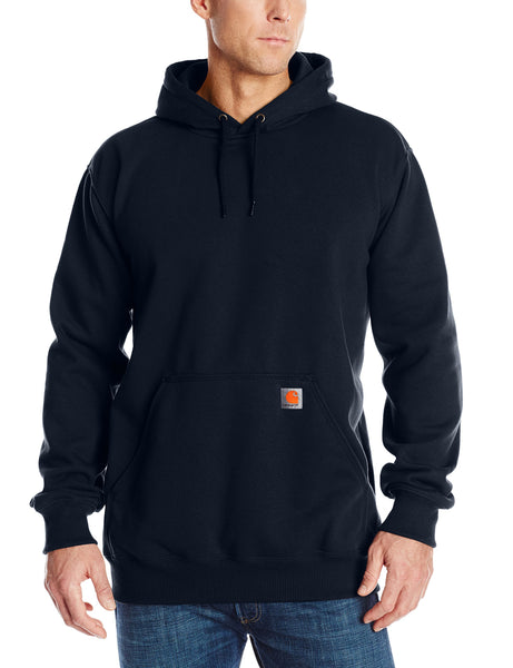 Carhartt Men's Big & Tall Rain Defender Paxton Heavyweight Hooded Sweatshirt,New Navy,XX-Large Tall - The Updated Ones