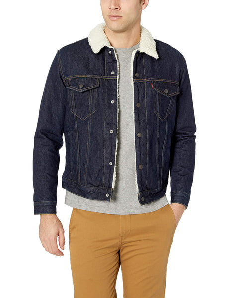 Levi's Men's Type III Sherpa Jacket, Juniper Rinse, L - The Updated Ones
