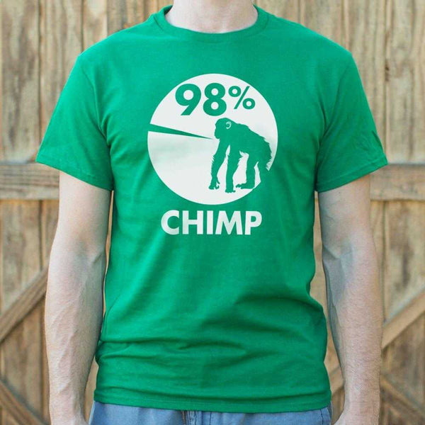98 Percent Chimp T-Shirt | Short Sleeve Graphic Tee - The Updated Ones