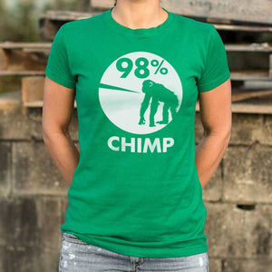 98 Percent Chimp T-Shirt | Women's Short Sleeve Top - The Updated Ones
