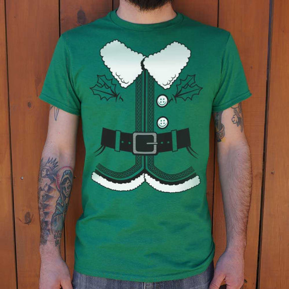 Santa's Elf Costume T-Shirt | Short Sleeve Graphic Tee - The Updated Ones