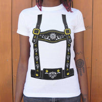 Lederhosen  T-Shirt | Women's Short Sleeve Top - The Updated Ones