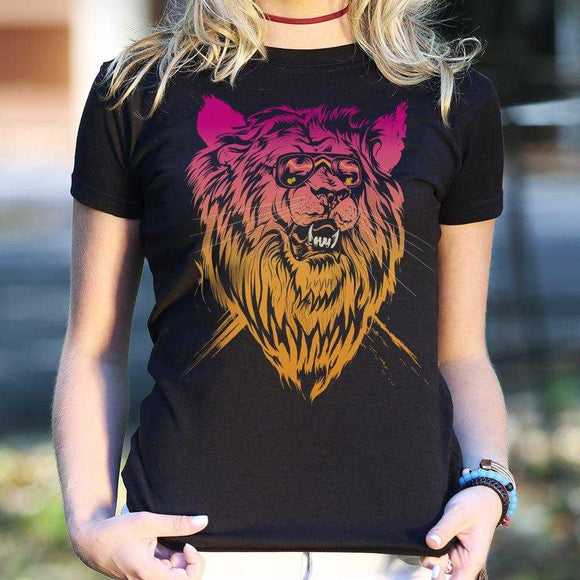 Lion-el Rich-eyes T-Shirt | Women's Short Sleeve Top - The Updated Ones