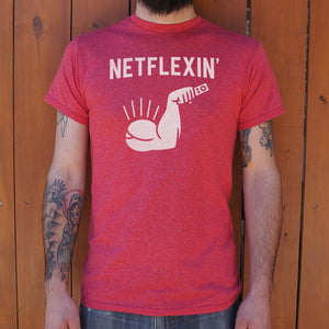 Netflexin' T-Shirt | Men's Short Sleeve Graphic Shirts - The Updated Ones