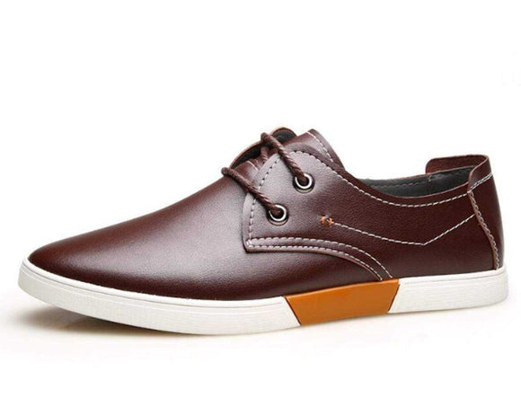 Men's Casual Lace Up Shoes with Stitching - The Updated Ones