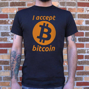 I Accept Bitcoin T-Shirt | Short Sleeve Graphic Tee - The Updated Ones
