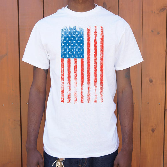 Distressed American Flag T-Shirt | Men's Short Sleeve Graphic Shirts - The Updated Ones