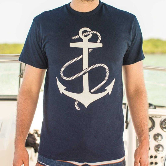 Anchors Aweigh T-Shirt | Short Sleeve Graphic Tee - The Updated Ones