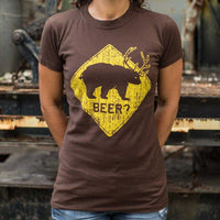Beer? Bear T-Shirt | Women's Short Sleeve Top - The Updated Ones
