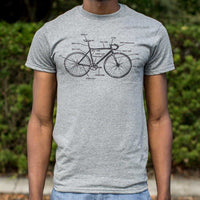Bike Anatomy T-Shirt | Short Sleeve Graphic Tee - The Updated Ones
