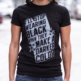 Stop Wearing Black T-Shirt | Short Sleeve Female Top - The Updated Ones