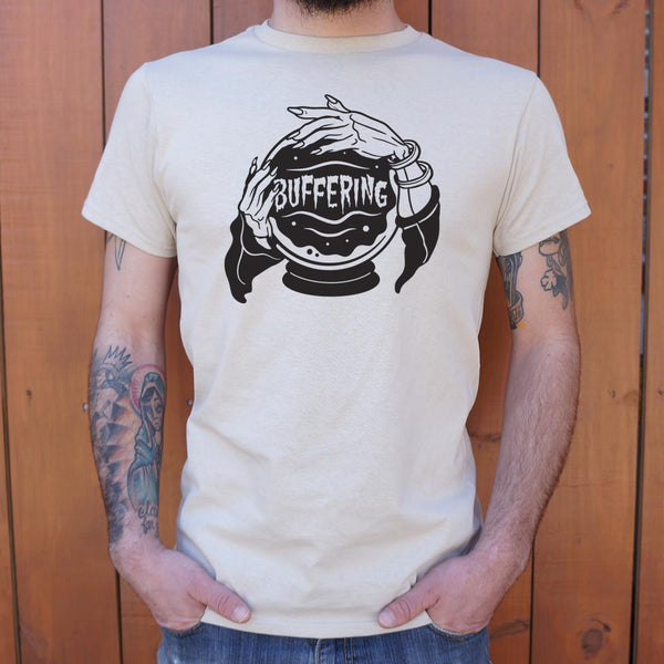 Crystal Ball Buffering T-Shirt | Men's Short Sleeve Graphic Shirts - The Updated Ones