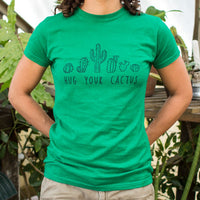 Hug Your Cactus T-Shirt | Short Sleeve Female Top - The Updated Ones