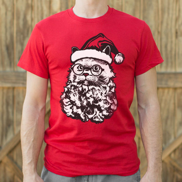 Cat Santa T-Shirt | Short Sleeve Graphic Tee - The Updated Ones