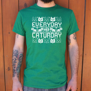 Every Day Is Caturday T-Shirt | Short Sleeve Graphic Tee - The Updated Ones