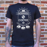 Coffee & Contemplation T-Shirt | Men's Short Sleeve Graphic Shirts - The Updated Ones