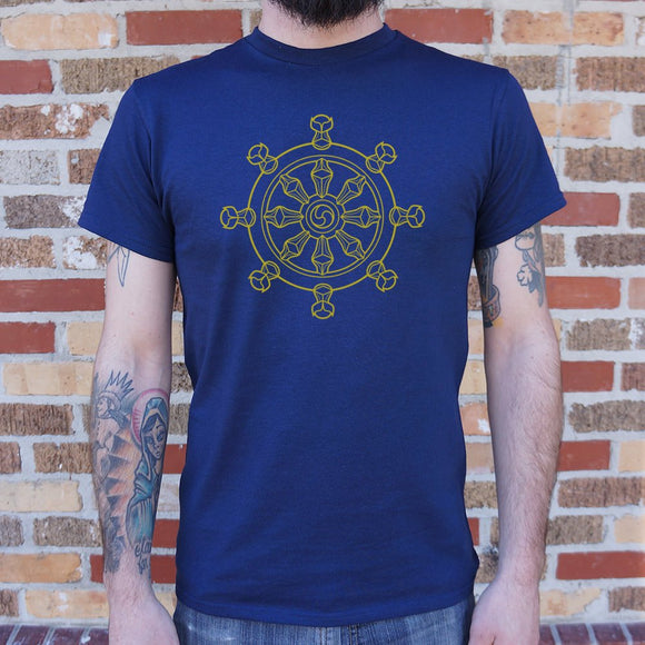 Dharma Wheel T-Shirt | Short Sleeve Graphic Tee - The Updated Ones