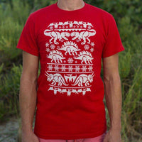 Ugly Dinosaur Sweater T-Shirt | Short Sleeve Graphic Tee - The Updated Ones