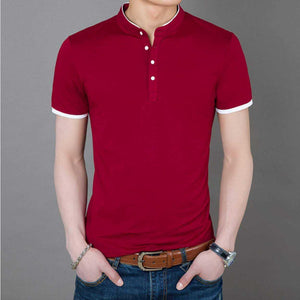 Mens Stand Collar T-Shirt - The Updated Ones