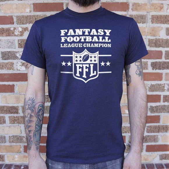 Fantasy Football League Champion  T-Shirt | Short Sleeve Graphic Tee - The Updated Ones