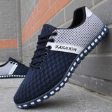 Mens Breathable Casual Lace Up Two Tone Shoes - The Updated Ones