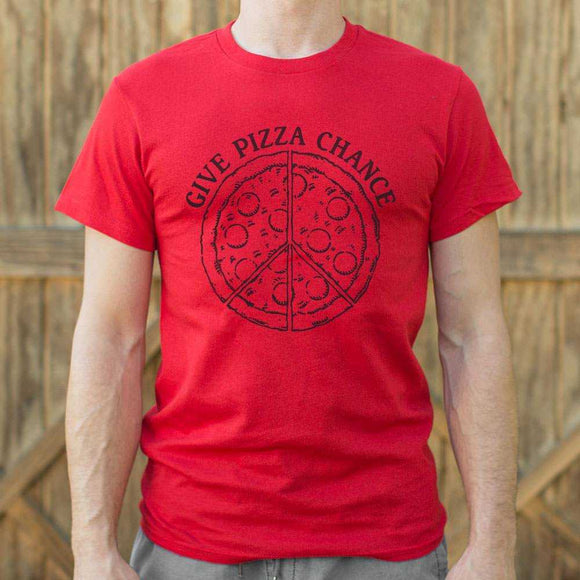 Give Pizza Chance T-Shirt | Short Sleeve Graphic Tee - The Updated Ones