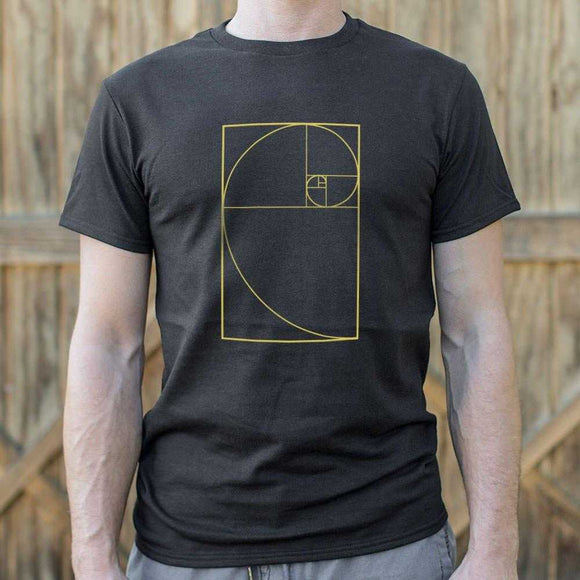 Golden Spiral Diagram T-Shirt | Short Sleeve Graphic Tee - The Updated Ones