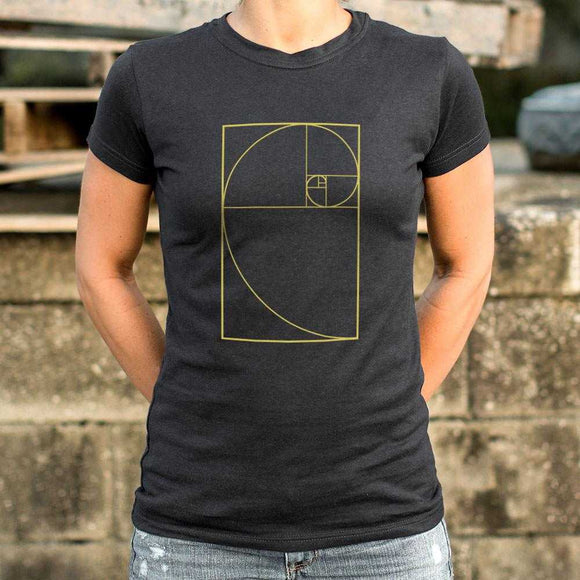 Golden Spiral Diagram T-Shirt | Women's Short Sleeve Top - The Updated Ones