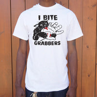 I Bite Pussy Grabbers T-Shirt | Short Sleeve Graphic Tee - The Updated Ones