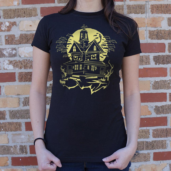 Haunted House T-Shirt | Short Sleeve Female Top - The Updated Ones