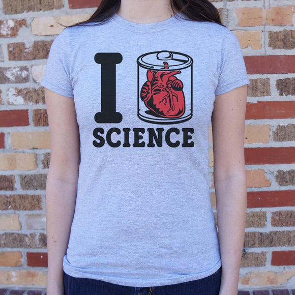 I Heart Specimen Science T-Shirt | Short Sleeve Female Top - The Updated Ones