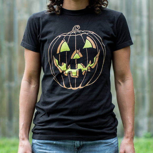 Jack O' Lantern T-Shirt | Short Sleeve Female Top - The Updated Ones