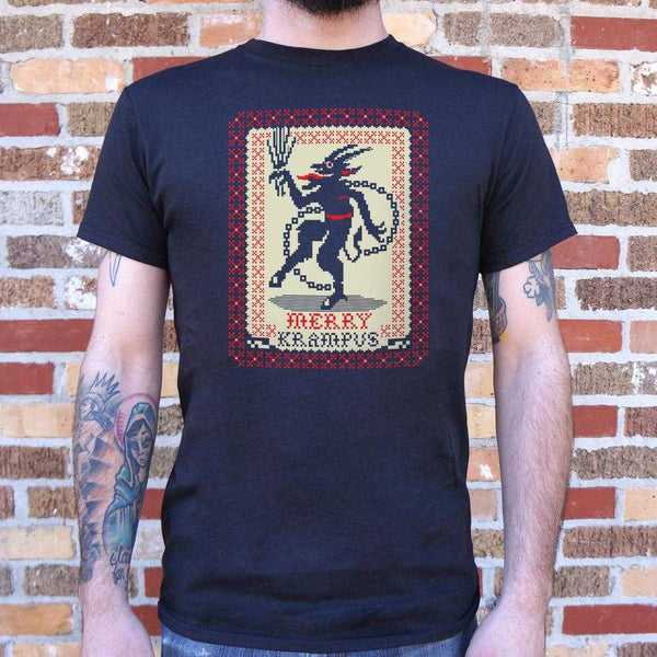 Merry Krampus T-Shirt | Short Sleeve Graphic Tee - The Updated Ones