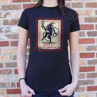 Merry Krampus T-Shirt | Women's Short Sleeve Top - The Updated Ones