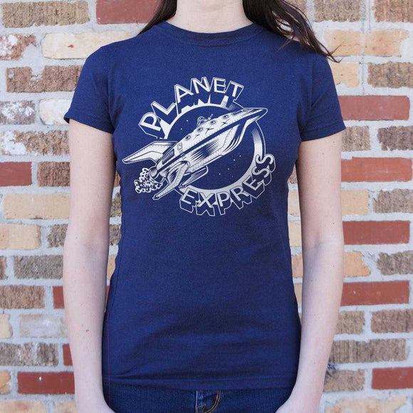 Planet Express Spaceship T-Shirt | Women's Short Sleeve Top - The Updated Ones