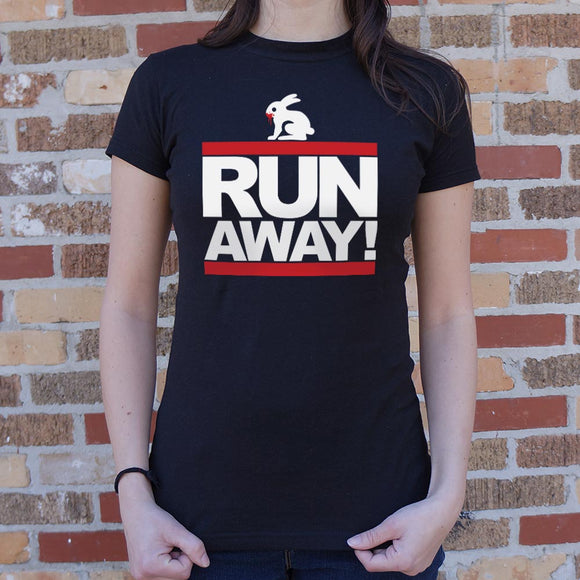 Run Away Rabbit T-Shirt | Short Sleeve Female Top - The Updated Ones