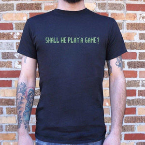 Shall We Play A Game T-Shirt | Short Sleeve Graphic Tee - The Updated Ones