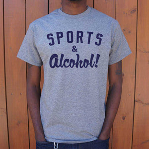 Sports And Alcohol T-Shirt | Short Sleeve Graphic Tee - The Updated Ones