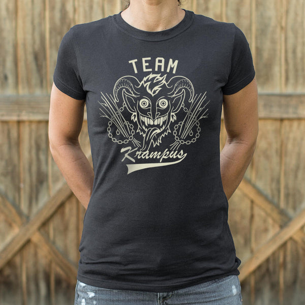 Team Krampus T-Shirt | Short Sleeve Female Top - The Updated Ones