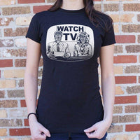 They Live On TV T-Shirt | Women's Short Sleeve Top - The Updated Ones