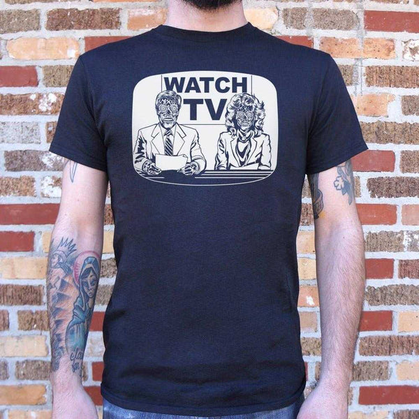 They Live On TV T-Shirt | Short Sleeve Graphic Tee - The Updated Ones