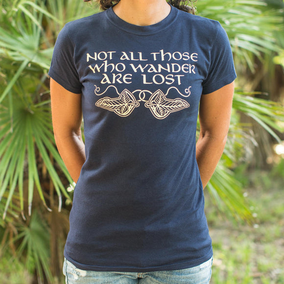 Not All Those Who Wander Are Lost T-Shirt | Women's Short Sleeve Top - The Updated Ones