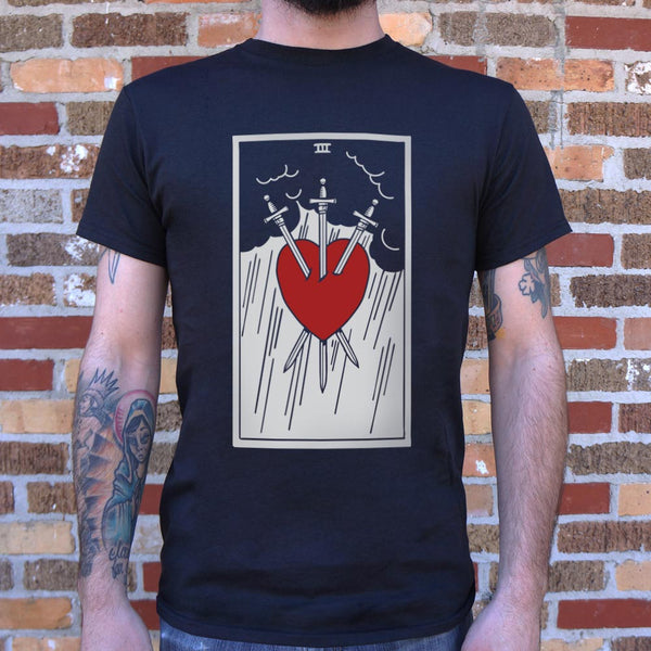 Tarot Three Of Swords T-Shirt | Men's Short Sleeve Graphic Shirts - The Updated Ones