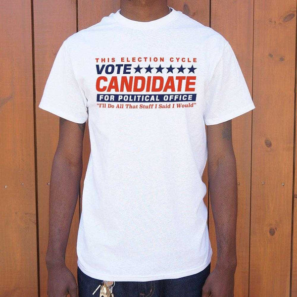 Vote Candidate For Political Office T-Shirt | Short Sleeve Graphic Tee - The Updated Ones